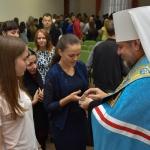 У ВТЕІ КНТЕУ відбувся обряд освячення студентів - першокурсників та Домового храму святих рівноапостольних Мефодія та Кирила